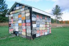 House made out of license plates Royalty Free Stock Images