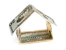 House made out of money. Royalty Free Stock Images