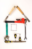 House made out of tools Stock Photos