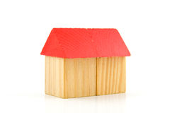 House made out of wooden blocks Stock Image