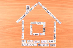 House made ​​of paper SALE Stock Photography