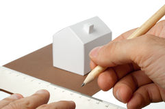 House made of paper Royalty Free Stock Photography