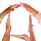 House made of people hands Royalty Free Stock Photo