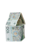 House made of polish banknotes Stock Photography