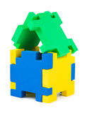 House made of puzzle Stock Image