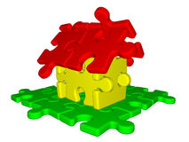 House made from puzzle Stock Photo