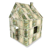 House made of 10 rubles bills Stock Photo