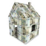 House made of 50 rubles bills Stock Image