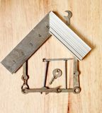 House made from small tools Royalty Free Stock Photo