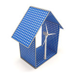 House Made from Solar Panels Stock Image