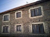 A house made of stone royalty free stock photo