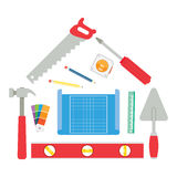 House made of tools Stock Images