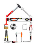 House made of tools Stock Image