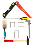 House made up from tools Royalty Free Stock Photos