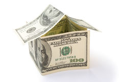 House made of US dollars Stock Photos