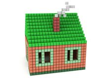House made by voxels Stock Photography