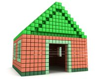 House made by voxels Royalty Free Stock Photos