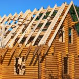 House made of wood Stock Image