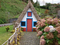 House from Madeira. Typical house from Madeira and garden stock images