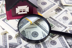 House and magnifying glass Royalty Free Stock Photo