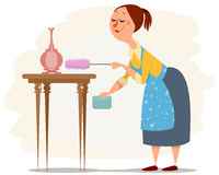 House maid working Royalty Free Stock Image
