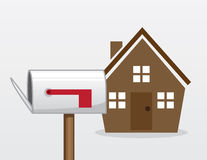 House Mailbox Royalty Free Stock Photos