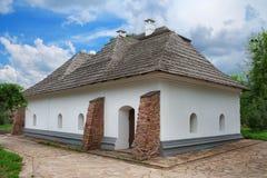 House at Mamai settlement. Ancient house at Mamai settlement in Kiev, Ukraine Stock Photo
