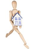 House and man Royalty Free Stock Photo