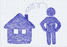 House and man icons Royalty Free Stock Photography