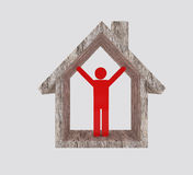House And Man Success Stock Images