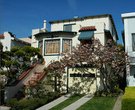 House in Marina district, San Francisco.  Royalty Free Stock Photography