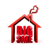 House market big sale sign illustration Stock Photography