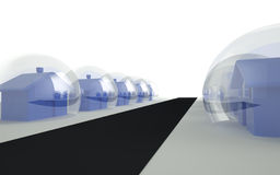House market bubble conceptual 3d render Royalty Free Stock Image
