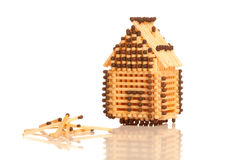 House from matches Royalty Free Stock Images