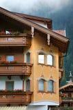 House in Mayrhofen. Tirol. Austria Stock Photo
