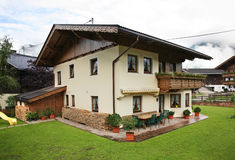 House in Mayrhofen. Tirol. Austria Stock Image