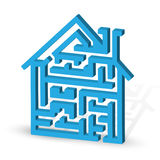 House maze Stock Photos