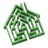 House Maze. Digital illustration of a maze in the shape of a house Royalty Free Stock Image