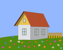 House on a meadow Stock Photography