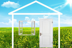The house on a meadow Royalty Free Stock Image