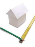 House and measuring instruments Stock Images