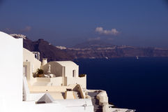 House mediterranean caldera santorini greece Royalty Free Stock Images