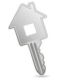 House metallic key Royalty Free Stock Photos
