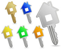 House metallic keys Stock Images