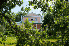 House with the mezzanine in Konstantinovo Royalty Free Stock Images