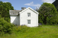 House in the midst of nature. In Andalsnes, Norway Stock Image