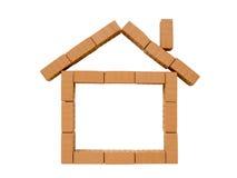 House mini brick with chimney Royalty Free Stock Photos