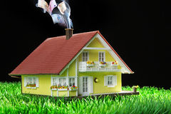 House miniatur with garden Stock Images