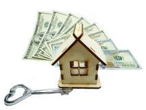 House miniature key money background savings concept Stock Images