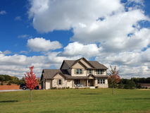 House in Minnesota at fall season Royalty Free Stock Photography